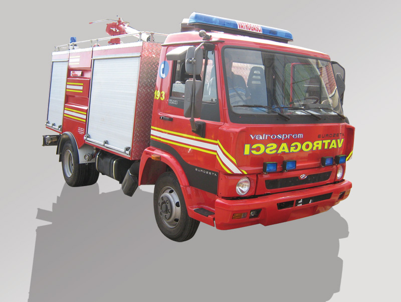 Water Foam Powder Fire Fighting Vehicles
