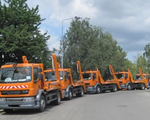 20 pieces of skiploader vehicles are delivered to the Belgrade's City Sanitation public enterprise company Date: 26-08-2010